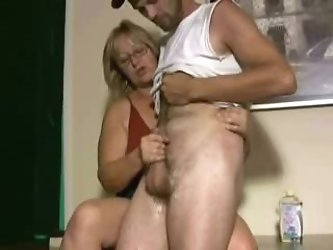 Pervert mature loves masturbate younger men