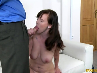 Fucking during fake casting with amateur cougar Gabi Mavali
