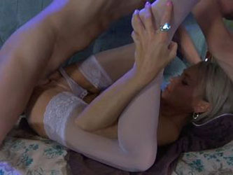 Sexy Blonde Mom Ninette Fuck Young Boy