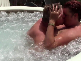 BBW Mature Gets a Big Creampie in Jacuzzi