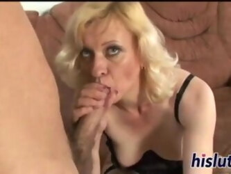 Foxy gilf rides on a stiff dick cumshot and mature