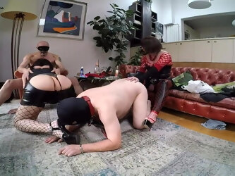 Horny party with two couples