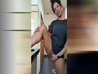 Jayna Naveen Finger Fucking in Public Restroom