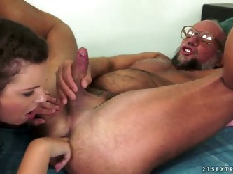 Scene between Miss Hadjara and Albert, the old perv. Untended body-fur, prostate massage, ass-licking on both sides. Neither can imagine a good fuck w
