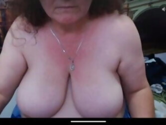Granny saggy tits big nipples hairy pussy