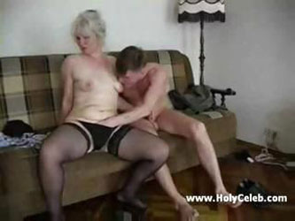 Mature Blond Fucks Teen Boy