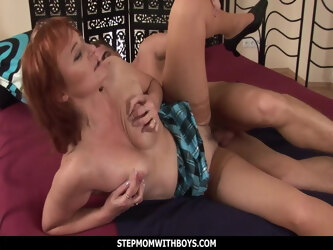 Mature Ginger Gets Boned By Horny Stepson