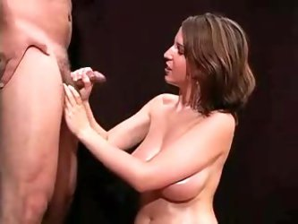 Big natural boobs girl handjob