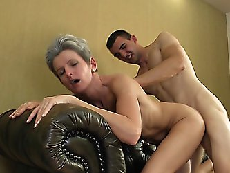skinny well-build granny gets a wonderful fuck