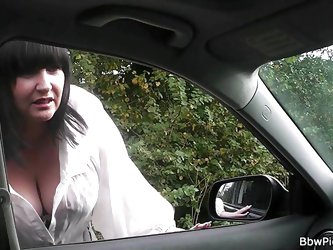 Chubby slut Andi has just been picked up. I love these chunky sluts, that are willingly do everything! I take her for a ride and after arriving home,