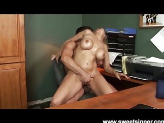 Couple;Vaginal Sex;Oral Sex;Blonde;Caucasian;Blowjob;Shaved;Office;MILF