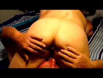 Wife grinding her big ass on hubby face  she comes on his face he comes in her mouth