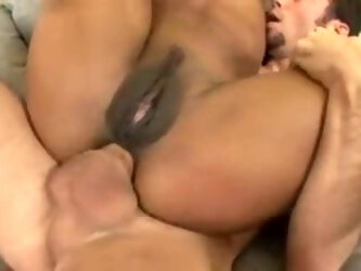 Ebony Milf Marie Luv gets reverse cowgirl anal by young stud