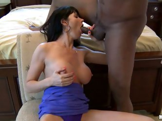 Mom knows best even when it comes to picking the right cock to ride on! Busty milf Eva Karera fucks only black guys with huge dicks that can give her
