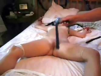 Fetish wife tied flogged and toyed