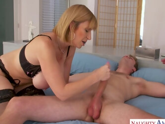Busty Milf Sara Jay Seduces Her Son's College Friend - MyFriend'sHotMom