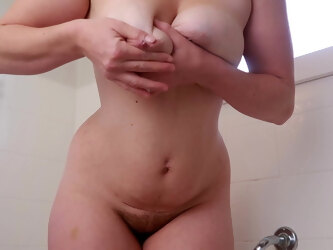 Lactating Pawg Milf Spraying Her Breast Milk