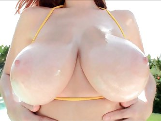 What can be hotter than a sunny day? Easy - big titted Tessa Fowler stripping outside on a sunny day! Drool as she slowly reveals those amazing breast