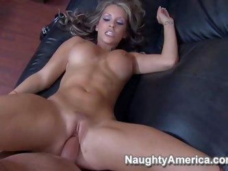 Courtney Cummz is a sex obsessed woman with sexy big fake tits. She gets her dripping her pierced pussy fucked hard by her ex husband. He drills her v