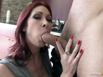 Danny Mountain was thimbing way when glamourous redhead Tiffany Mynx picked him up. Suddenly mature depraved honey took him to her secret house to fuc