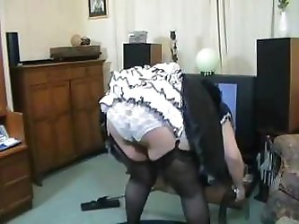 Middle-aged Italian maid with very big tits is waiting for her cock