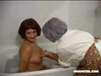 Shower with granny