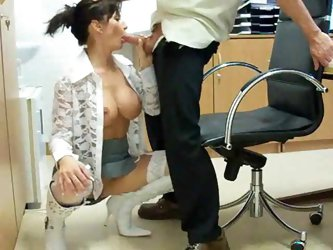 Boss takes advantage of this hot German MILF