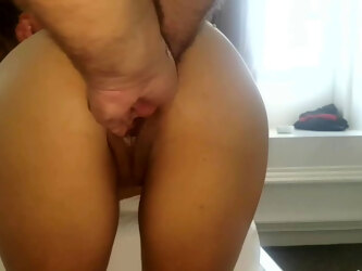 Double anal fisting, gaping hole