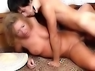 Blonde Mature Loves To Get A You...