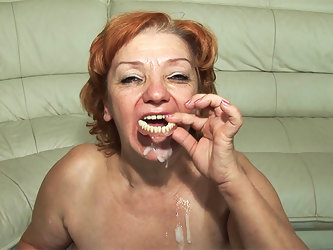 74 years old toothless mom fucked