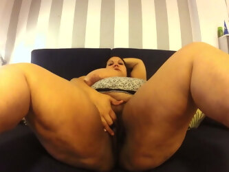 Bbw Latina on couch