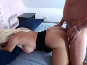 Painful Anal Sex for German Mature by White Monster Cock