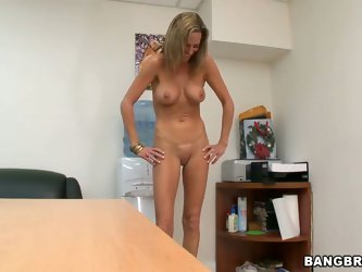 This nasty hot mature whore Montana Skye exactly fits the scenario of a new porn movie! The milf is interviewed and asked to show her fit tight ass an
