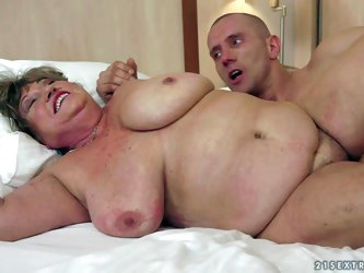 Margitta is a fat sex obsessed granny with massive tits. She gets her twat drilled by rock stiff young cock and gives head. This chubby mature slut ca