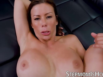 Naughty busty mom Alexis Fawx fucks her stepson in kitchen