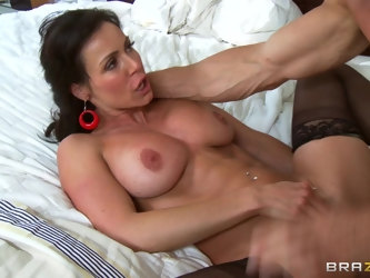 Horny mature wife Kendra Lust wakes him up with a nice blowjob