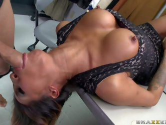 Kayla Carrera is an incredibly beautiful milf with perfect big tits and nice cock sucking skills. She gives head to her elegant old friend Mick Blue.