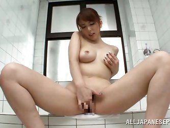 Look at her! Tall, beautiful and with a smoking hot body, this Nippon babe greets us between her thighs. She's a kinky one and likes to taunt us,
