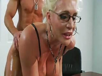 Oiled Slut Sadie Swede Fucked On The Table