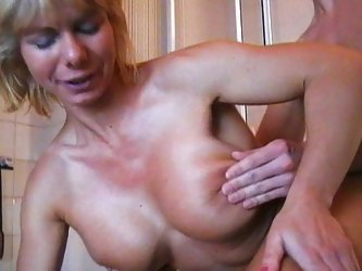 German mom caught son masturbating