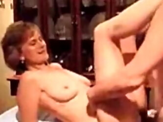 Old wife table fucked