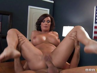 Diamond Foxxx is a super sexy milf with big tits who loves getting her soaking wet pussy drilled by hard big dick over and over again. She's a sl