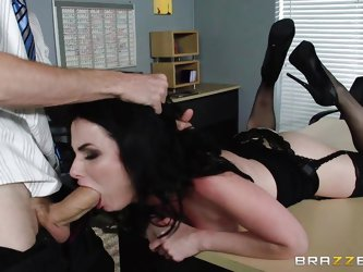 Dirty office slut Veruca has banged everyone in the office except Danny, but today that is going to change. Lucky him. He eats her wet pussy, and then