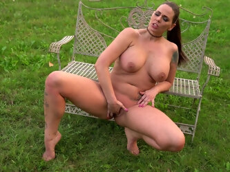 Curvy Simony Diamond is a sucker for masturbating in the open air