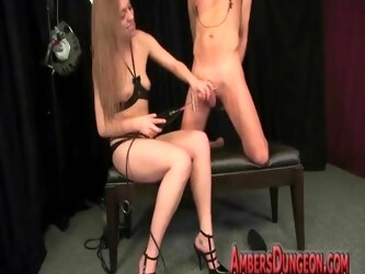 39. Ambers Dungeon - Cruel Mistresses Torments Her Slaves