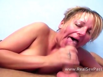 Before her facial she is fucked hard including anal