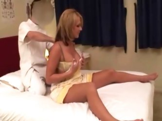 Married MILF cant say NO to Japanese massage with stranger