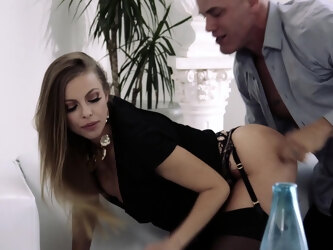 Britney Amber seduces her best friend's husband and rides him