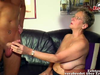 german old mature mom with saggy tits fuck at casting