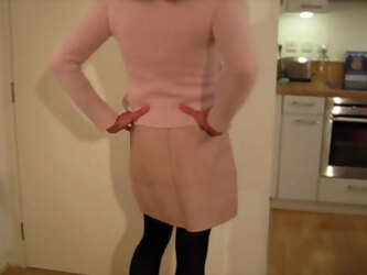 Cumming in Pink Angora For Mistress Kate